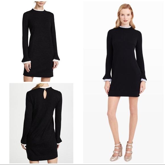 58d6cc5f500 Club Monaco Dresses   Skirts - Club Monaco Ruffle Trim Fidelma Wool Sweater  Dress